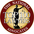 The National Trial Lawyers Advocates Top 100 Lawyers logo